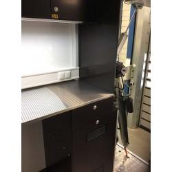 IBAK TV-lastbil - Interiøropbygning i glasfiberkasse - EX udstyr, TV-biler - IBAK