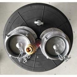 CTV Afspærringsballon PU-F 30/60 Ø300-600 mm med gennemløb - Kloakballoner:, Med gennemløb - 2.5 bar - C-TV