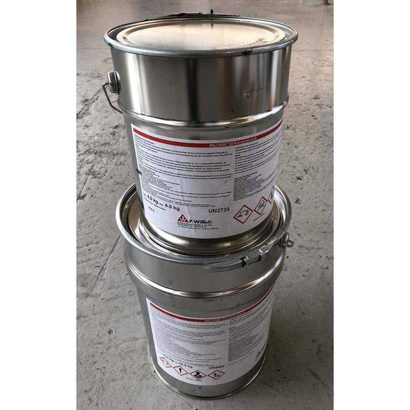 F. Willich Epoxy 50 : sæt á 16+4,0 kg til strømpeforing - Strømpeforing , Kemi - Epoxy - F. Willich