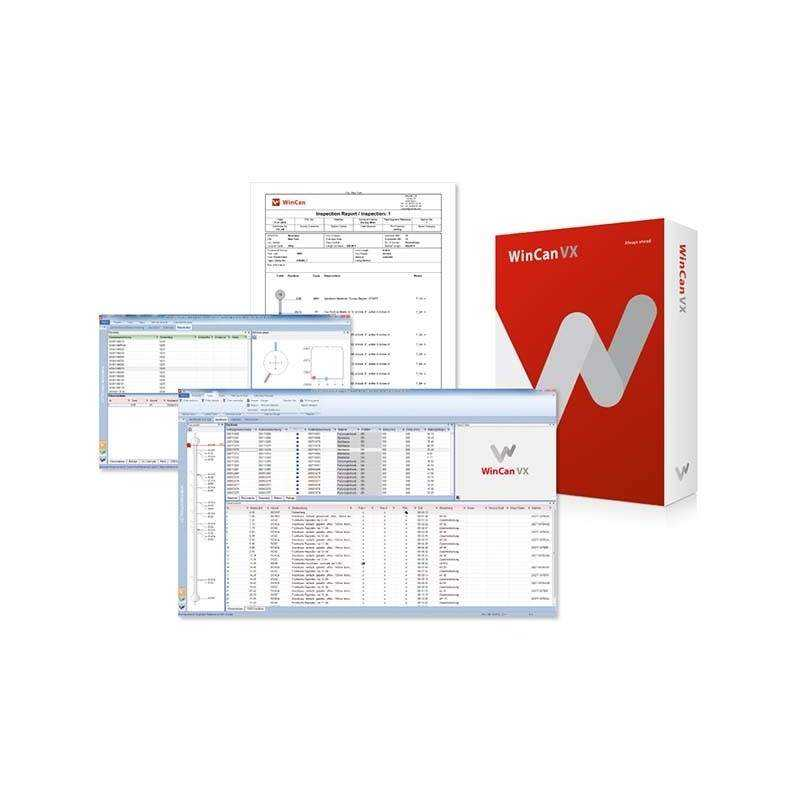 WinCan VX kontorversion til før- og efterpostering af inspektions data - TV-inspektions software, WinCan VX (V8) - WinCan