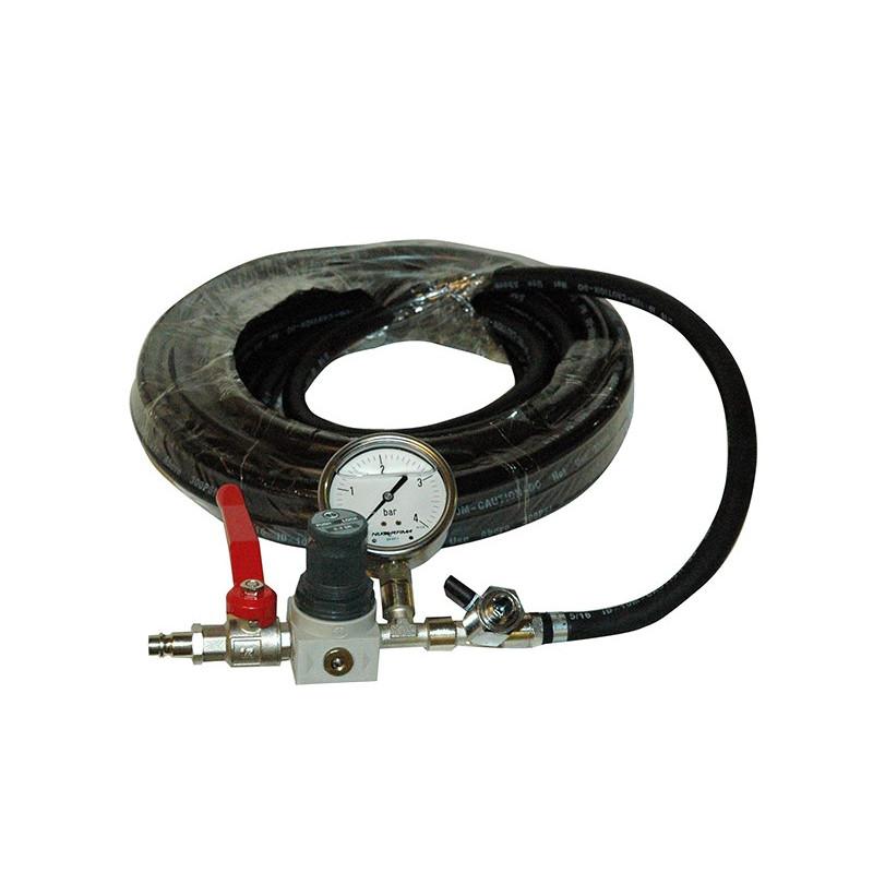 CTV Sikkerhedsfyldeslange med regulator, kuglehaner og manometer - Strømpeforing udstyr, Punktrenovering: , Andet reliningudst