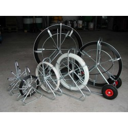 CTV 200 m/11 mm rørål stående stel m. hjul - Glasfiber rørål:, Uden leder - C-TV