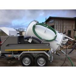 ibos MiniCom slamsuger/spuletrailer 3.5 ton - Trailere og pick-up, Spuletrailere, Slamsugertrailer, Combi anlæg - ibos