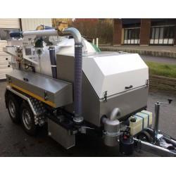 ibos MiniCom slamsuger/spuletrailer 3.5 ton - Trailere og pick-up:, Spuletrailere, Sugetrailere, Combi - ibos