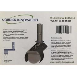 Nordisk Innovation TX11 Ø100/110 mm rottespærre universal - RING FOR DIN PRIS! VI HAR PRISGARANTI - Produkter, Rottespærre, Po