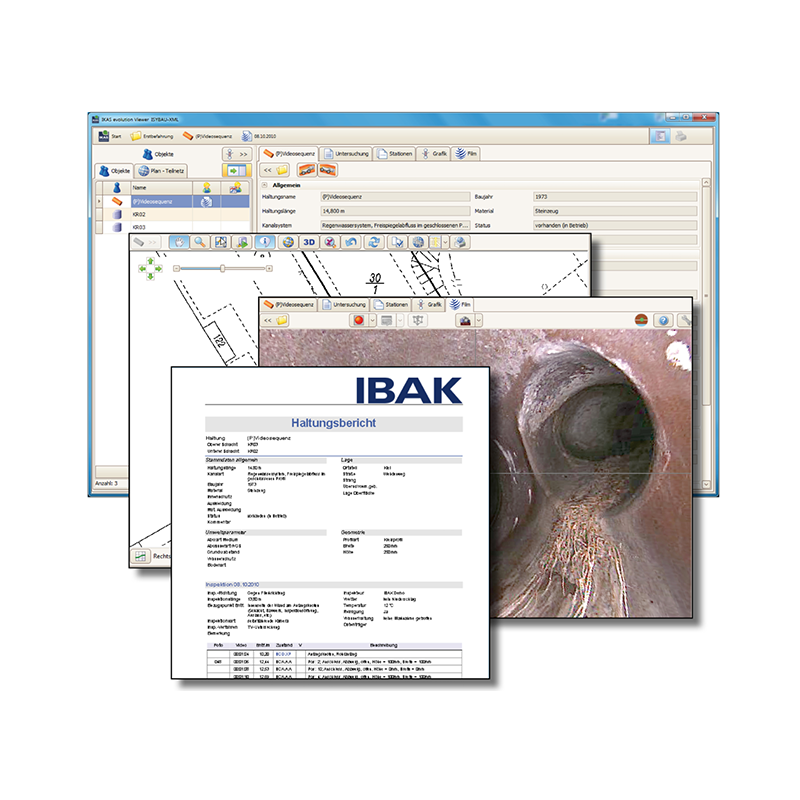IBAK IKAS Evolution til håndskubbesystemer - TV-inspektions software, IKAS Evolution - IBAK