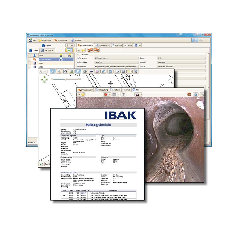 IKAS Evolution kontor version til før- og efterpostering af inspektions data - TV-inspektions software, IKAS Evolution - IBAK