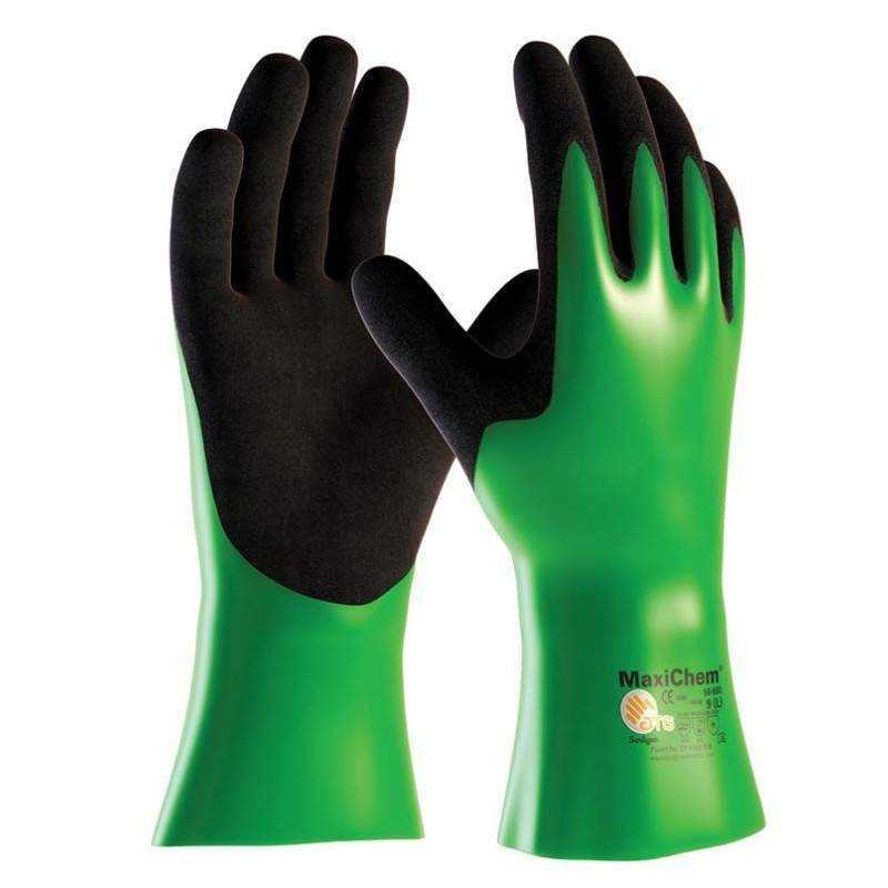 MaxiChem 56-635 kemikalieressistent nitril handske str. 10 - Strømpeforing:, Punkt renovering: , Handsker, PointLiner udstyr, D