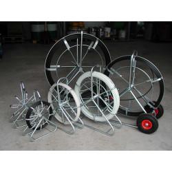 CTV 250 m/11 mm rørål stående stel m. hjul - Glasfiber rørål:, Uden leder - C-TV
